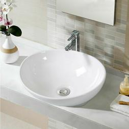 Oval Bathroom Basin Ceramic Vessel Sink Bowl Vanity Porcelai
