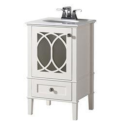 Simpli Home 3AXCVPAW-20 Paige 20 inch Bath Vanity in Soft Wh