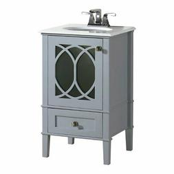 Simpli Home 3AXCVPAG-20 Paige 20 inch Bath Vanity in Grey wi