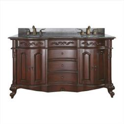 Avanity Provence 60-inch Antique Cherry Finish Vanity Only