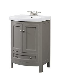 "RunFine RFVA0069G 24.6"" Wide All Wood Modern Vanity with Vit"
