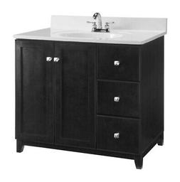 Design House  Single  Dark  Vanity Cabinet  33 in. H x 36 in