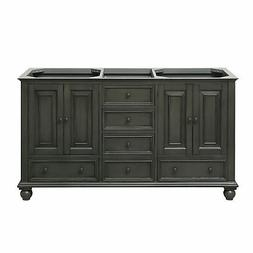 Avanity Thompson 60 in. Double Sink Vanity Only in Charcoal