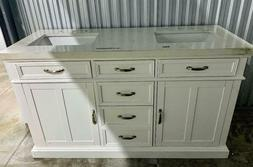 """VANITY DOUBLE SINK MARBLE TOP Never Used 60"""" X 22 1/2"""" NEW B"""