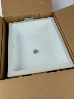 Verticyl Rectangle Undermount Bathroom Sink - Finish: White