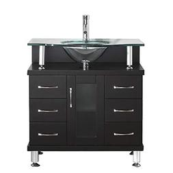 "Virtu Vincente 32"" Single Bathroom Vanity Set"