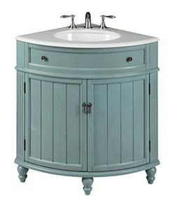 "24"" Vintage Light Blue Cottage Style Thomasville Bathroom"