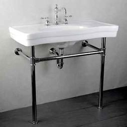Vintage Wall Mount Pedestal Bath Sink Vanity Bathroom Access