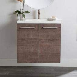 "Wall-Mount 24"" Bathroom Vanities Vanity Storage Cabinet Cera"