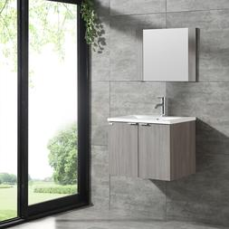 wall mount 24 bathroom vanity wood cabinet