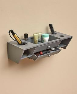 Wall-Mounted Bathroom Vanity Storage Shelf - Gray