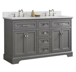 Hallmar White 54 Inch Bathroom Vanity Set