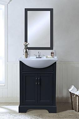 "Legion Furniture WLF6046 Sink Vanity, 24"", Dark Grey"