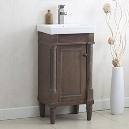 "Legion Furniture WLF7021-18 18"" Weathered Sink Vanity withou"