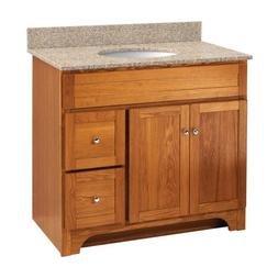 Foremost WROA3621D Worthington 36-Inch Oak Bathroom Vanity